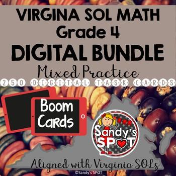 DIGITAL TASK CARDS BUNDLE Virginia Math SOL Grade 4