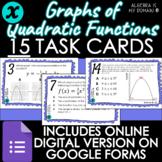 DIGITAL TASK CARDS - Graphs of Quadratic Functions - DISTA
