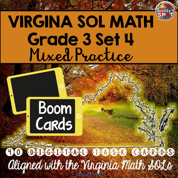 DIGITAL TASK CARDS Virginia Math SOL Grade 3 Set 4