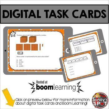DIGITAL TASK CARDS Virginia Math SOL Grade 3 Set 4
