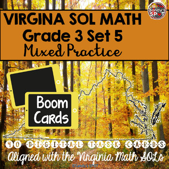 DIGITAL TASK CARDS Virginia Math SOL Grade 3 Set 5