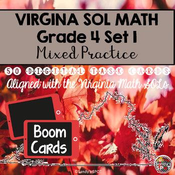 DIGITAL TASK CARDS Virginia Math SOL Grade 4 Set 1