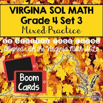 DIGITAL TASK CARDS Virginia Math SOL Grade 4 Set 3