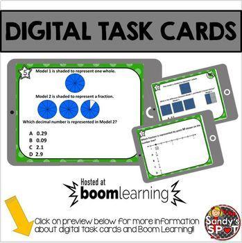 DIGITAL TASK CARDS Virginia Math SOL Grade 4 Set 5