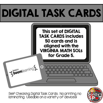 DIGITAL TASK CARDS Virginia Math SOL Grade 5 Set 1