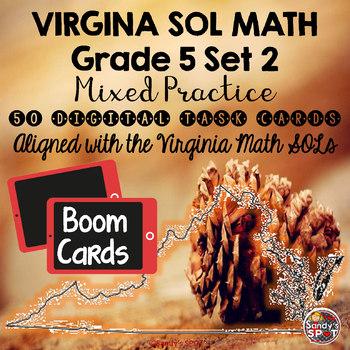 DIGITAL TASK CARDS Virginia Math SOL Grade 5 Set 2