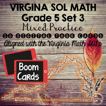 DIGITAL TASK CARDS Virginia Math SOL Grade 5 Set 3