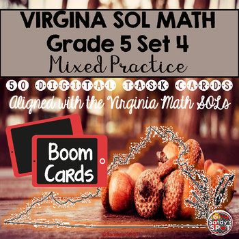 DIGITAL TASK CARDS Virginia Math SOL Grade 5 Set 4