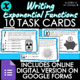 DIGITAL TASK CARDS - Writing Exponential Functions - DISTA