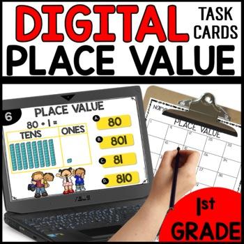 DIGITAL TASK CARDS for Math BUNDLE
