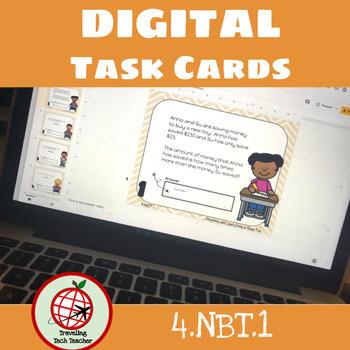 DIGITAL Task Cards: Place Value 4.NBT.1- Google Slides