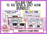 DIGITAL Telling Time BUNDLE to the hour & half hour  for G