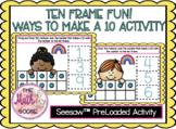 DIGITAL Ten Frame Fun! Ways to Make Ten (10) Activity Preloaded to Seesaw 1.3D