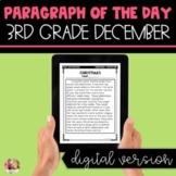 DIGITAL Text Evidence Passages for 3rd Grade December | Di