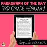 DIGITAL Text Evidence Passages for 3rd Grade February | Di
