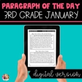 DIGITAL Text Evidence Passages for 3rd Grade January | Dis