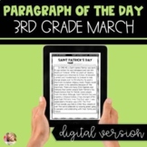 DIGITAL Text Evidence Passages for 3rd Grade March | Dista