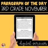DIGITAL Text Evidence Passages for 3rd Grade November | Di