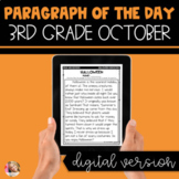 DIGITAL Text Evidence Passages for 3rd Grade October | Dis