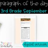 DIGITAL Text Evidence Passages for 3rd Grade September | D