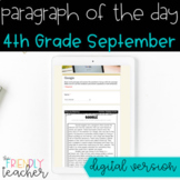 DIGITAL Text Evidence Passages for 4th Grade September | D