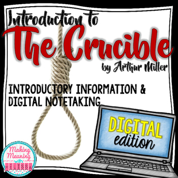 DIGITAL The Crucible Introduction for High School