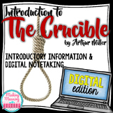 The Crucible Literature Introduction - PAPERLESS