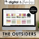DIGITAL The Outsiders Workbook: Novel Unit for DISTANCE LEARNING