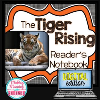 DIGITAL The Tiger Rising Novel Unit - 4rd-8th grade