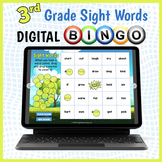 DIGITAL 3rd Grade Sight Words Vocabulary Bingo Game