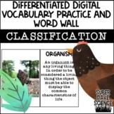 DIGITAL VOCABULARY PRACTICE & WORD WALL Classification - C