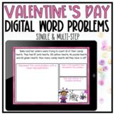 DIGITAL Valentine's Day Word Problems - Google Slides