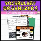 DIGITAL Vocabulary Graphic Organizers