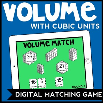DIGITAL Volume with Unit Cubes Matching Game for Google Drive