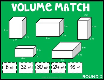 DIGITAL Volume with Dimensions Matching Game for Google Drive