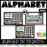 Pared de palabras y Abecedario   Digital Word Wall & Alphabet Bundle in Spanish