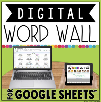 DIGITAL WORD WALL IN GOOGLE SHEETS™