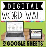 DIGITAL WORD WALL IN GOOGLE SHEETS™