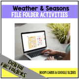 DIGITAL Weather File Folder Activities