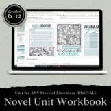 DIGITAL Workbook for ANY Novel: Unit Study Grades 7-12