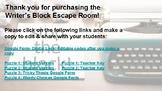 DIGITAL Writer's Block Escape Room