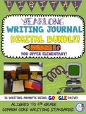 DIGITAL Writing Journal Set for Google Drive (yearlong & editable!)