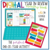 DIGITAL Year in Review Memory Book  - DISTANCE LEARNING -
