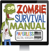 DIGITAL ZOMBIE HALLOWEEN WRITING ASSIGNMENT PAPERLESS DIGITAL GOOGLE