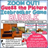 DIGITAL Zoom Out Guess the Picture Icebreaker Game BUNDLE