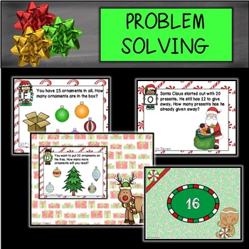 DIGITAL and PAPER Christmas Problem Solving Task Cards