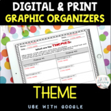 DIGITAL and PRINT Theme Graphic Organizers - Differentiate