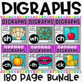 Digraphs No Prep Phonics Printables Bundle for Kindergarten and First Grade