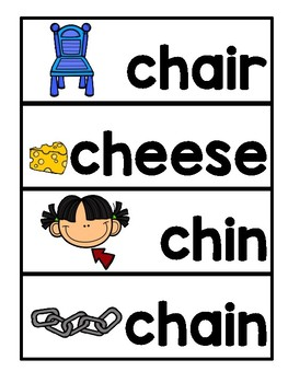 DIGRAPH CH VOCABULARY CARDS
