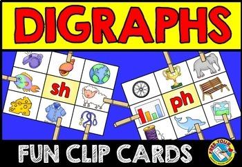 DIGRAPH CLIP CARDS: PHONICS LITERACY CENTER